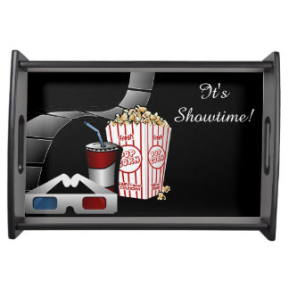 It's Showtime! Movie Film Strip & Popcorn Serving Tray