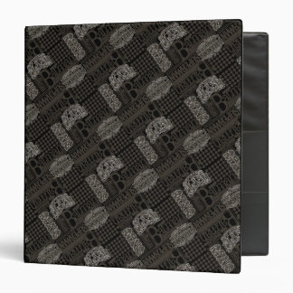 It's Showtime Pattern 3 Ring Binders