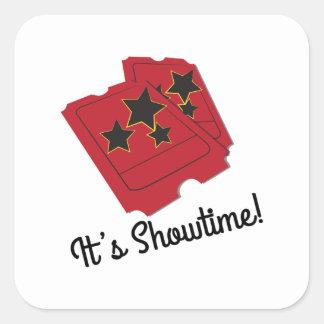 Its Showtime Square Sticker