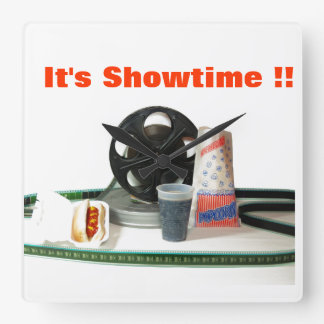 It's Showtime!! wall clock