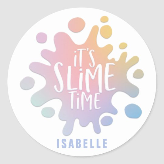 its slime time rainbow splat birthday party classic round. Black Bedroom Furniture Sets. Home Design Ideas
