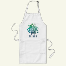 It's slime time, slime making shirt rainbow long apron