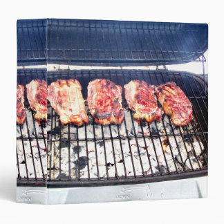 It's Snowing, Let's Grill Ribeyes! 3 Ring Binder