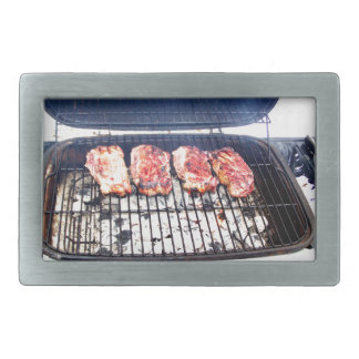 It's Snowing, Let's Grill Ribeyes! Belt Buckles