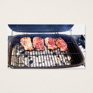 It's Snowing, Let's Grill Ribeyes! Business Card