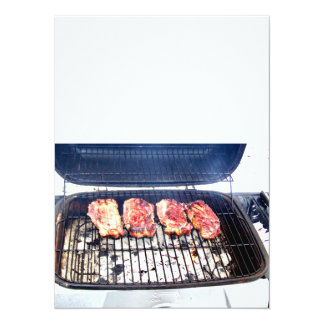 It's Snowing, Let's Grill Ribeyes! Card