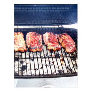 It's Snowing, Let's Grill Ribeyes! Postcard