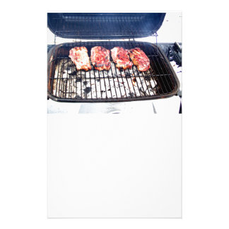 It's Snowing, Let's Grill Ribeyes! Custom Stationery