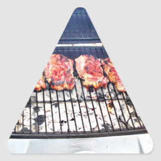 It's Snowing, Let's Grill Ribeyes! Triangle Sticker