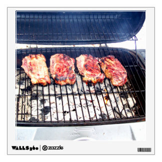It's Snowing, Let's Grill Ribeyes! Wall Sticker