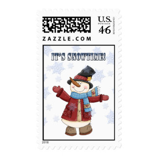 It's Snowtime Postage Stamps