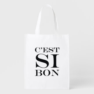 It's So Good - C'est Si Bon French Grocery Bag