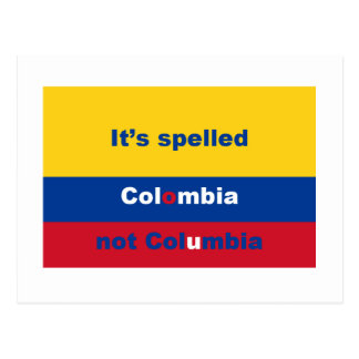 It's spelled Colombia not Columbia Postcard