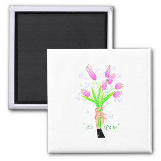 Its Spring Flower Boquet Fridge Magnets
