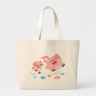 It's Spring!!-Two Cute Cartoon Pigs Bag