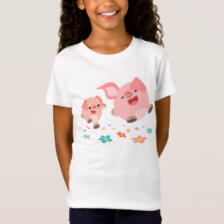 It's Spring!!-Two Cute Cartoon Pigs Kids T-Shirt