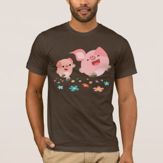 It's Spring!!-Two Cute Cartoon Pigs T-Shirt
