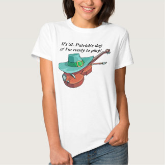 It's St. Patrick's day & I'm ready to play  Music T Shirt