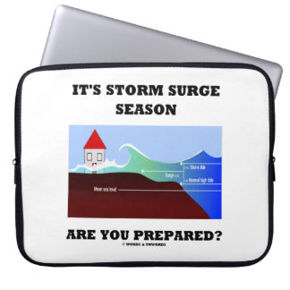 It's Storm Surge Season Are You Prepared? Computer Sleeve