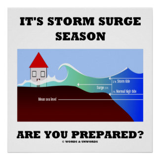 It's Storm Surge Season Are You Prepared? Poster