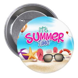 It's Summer Time 3 Inch Round Button