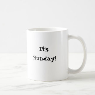It's Sunday!  I think I'm going to need a do-over! Classic White Coffee Mug
