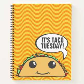 It's Taco Tuesday Cheesy Waves Notebook