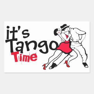 It's Tango Time Rectangular Sticker