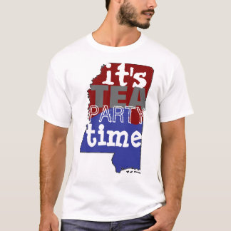 It's Tea Party Time Mississippi T-Shirt