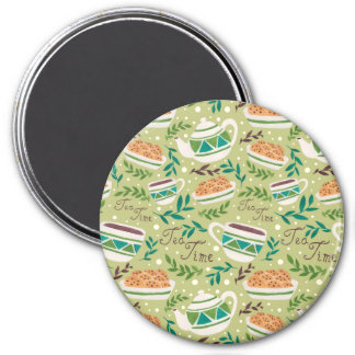 It's Tea Time 3 Inch Round Magnet