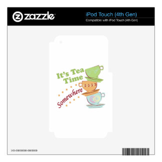 It's Tea Time Skins For iPod Touch 4G
