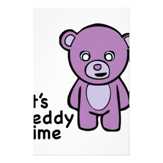 Its Teddy Time Stationery