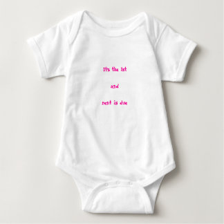 It's the 1st and rent is due baby bodysuit
