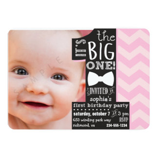 The Big One Invitations Announcements Zazzle - Birthday invitation text for 1 year old