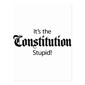 It's the Constitution, Stupid! Postcard