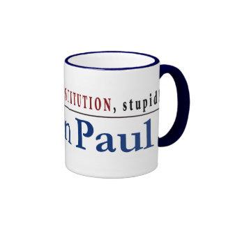 It's the CONSTITUTION, stupid! Ringer Coffee Mug
