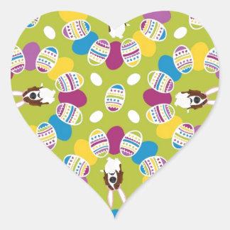 It's the Easter Basset Heart Sticker