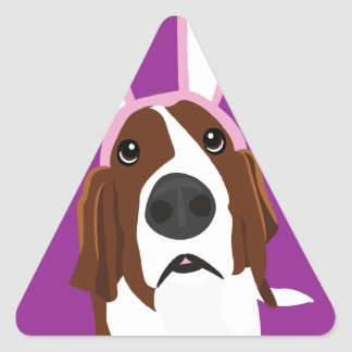 It's the Easter Basset Triangle Sticker