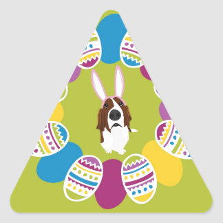 It's the Easter Basset! Triangle Sticker