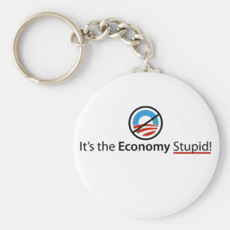 It's The Economy Stupid Keychain
