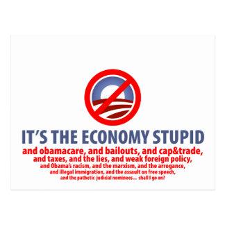 It's the Economy Stupid... Postcard