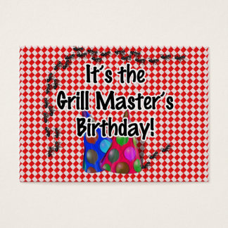 It's the Grill Master's Birthday Party! Business Card