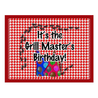 It's the Grill Master's Birthday Party! Postcard