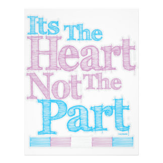 Its The Heart Not The Part Transgender Letterhead