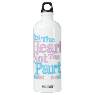 Its The Heart Not The Part Transgender Water Bottle