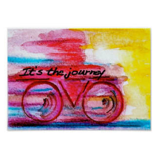 It's the Journey-Original Art by SQ Streater Poster