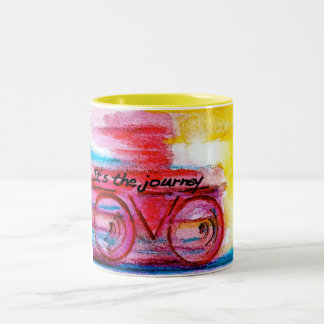 It's the Journey-Original Art by SQ Streater Two-Tone Coffee Mug