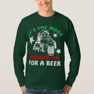 Its The Most Wonderful Time For A Beer Christmas T-Shirt