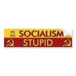Its the Socialism Stupid bumpersticker