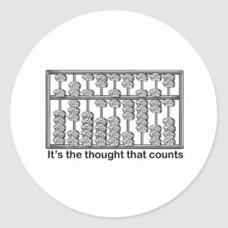 It's the Thought That Counts Classic Round Sticker
